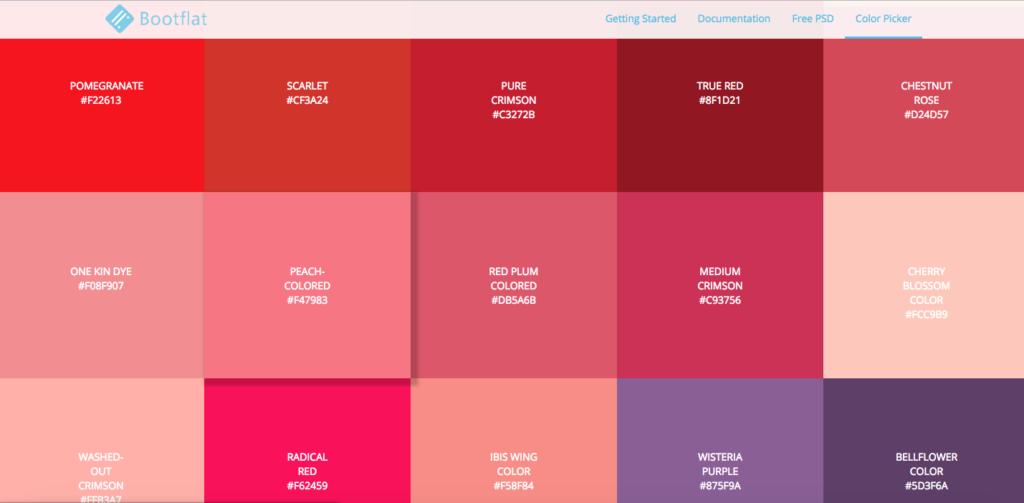 Color Palette tools Boot Flat Color Picker