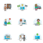 Resource: 50 FREE Illustrations by Streamline UX