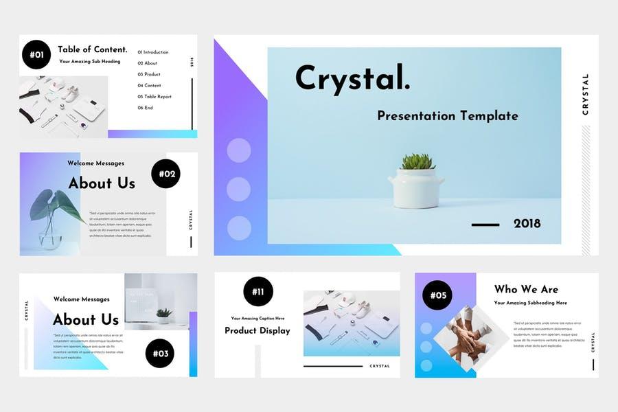 Cyrstal powerpoint template
