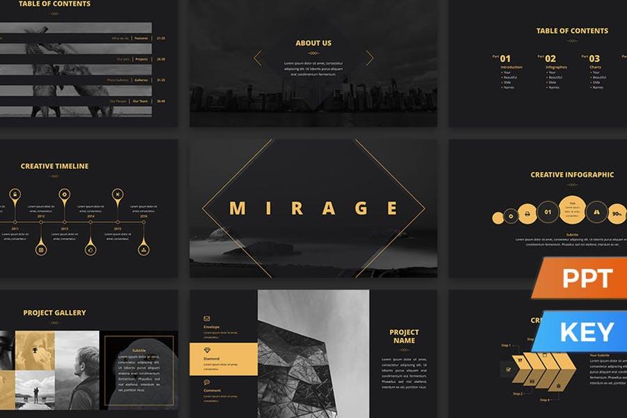 Mirage powerpoint presentation template